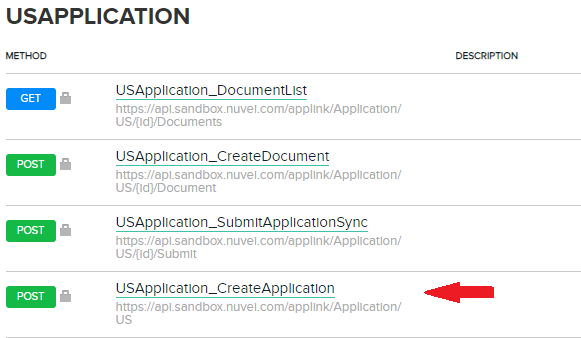 Utilize the USApplication (United States Application)